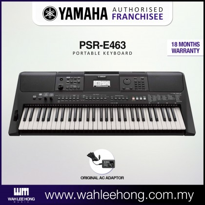 Yamaha PSR-E463 61-Keys Portable Keyboard (PSRE463 / PSR E463)