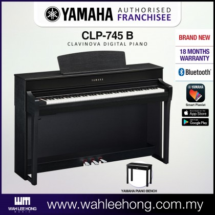 Yamaha Clavinova CLP-745 Digital Piano With Piano Bench - Black (CLP745 / CLP 745) *PRE ORDER*