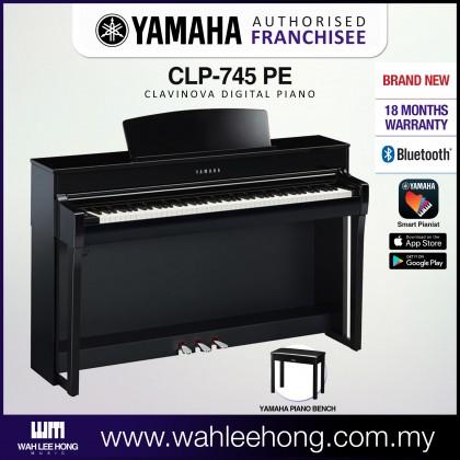 Yamaha Clavinova CLP-745 Digital Piano With Piano Bench - Polished Ebony (CLP745 / CLP 745) *PRE ORDER*