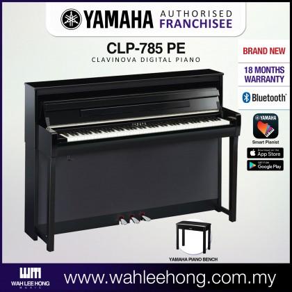 Yamaha Clavinova CLP-785 Digital Piano With Piano Bench - Polished Ebony (CLP785 / CLP 785) *PRE ORDER*