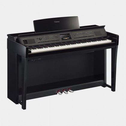 Yamaha Clavinova CVP-805 Digital Piano With Piano Bench - Polished Ebony (CVP805 / CVP 805) *PRE ORDER*