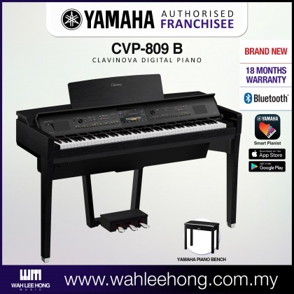 Yamaha Clavinova CVP-809 Digital Piano With Piano Bench - Black (CVP809 / CVP 809) *PRE ORDER*
