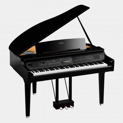 Yamaha Clavinova CVP-809GP Digital Piano With Piano Bench - Polished Ebony (CVP809GP / CVP 809GP)