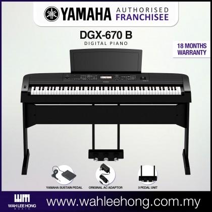 Yamaha DGX-670 88-Keys Portable Grand Digital Piano - Black (DGX670 / DGX 670)