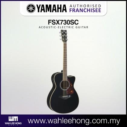 Yamaha FSX730SC Small Body Cutaway Solid Spruce Top Acoustic-Electric Guitar - Black (FSX-730SC)