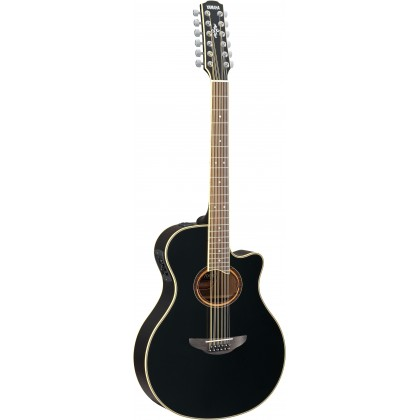Yamaha APX700II-12 Thinline 12-String Cutaway Acoustic-Electric Guitar with Pickup - Black (APX-700II-12)